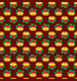 seamless pattern of christmas bells vector image