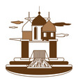 arabian castle design vector image