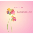 two flowers on a pink background vector image