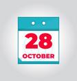 28 october flat daily calendar icon