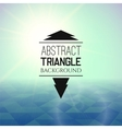 Abstract green sunset with blue triangle field vector image vector image