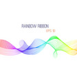abstract rainbow ribbon background vector image