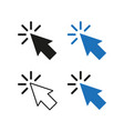 arrow pointer four options simple vector image vector image