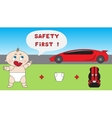 Baby child car safety concept vector image vector image