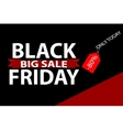 Black Friday offer banner template vector image vector image