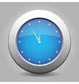 blue metal button with last minute clock vector image