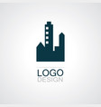 building town logo vector image vector image