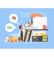 Career flat concept vector image vector image