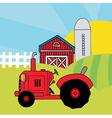 Cartoon tractor vector image vector image