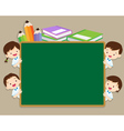 children and space chalkboard vector image vector image