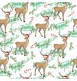 christmas deer seamless pattern reindeer head vector image vector image