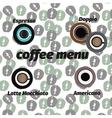 Coffee icon set menu for cafe bar shop vector image vector image