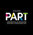 colorful style font design vector image vector image