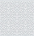 curly seamless pattern in neutral color vector image vector image
