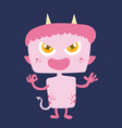 cute monster cartoon character 009 vector image vector image