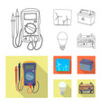 design of electricity and electric sign vector image vector image