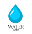 drop of water symbol of life and purity vector image vector image