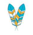 feather icon image vector image