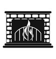 fireplace icon simple style vector image vector image