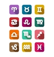 Flat icons with zodiac elements vector image vector image