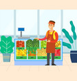fruit and vegetables in supermarket retail vector image