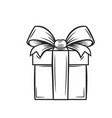 gift icon outline vector image