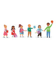 group cute multiracial children vector image