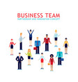 group of businessman and businesswoman teamwork vector image