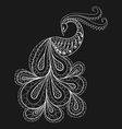 Hand drawn peacock for antistress Coloring Page vector image vector image
