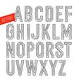 handmade retro inline outline font white letters vector image vector image