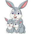 happy rabbits family vector image vector image