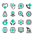healthcare icon vector image vector image