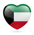 Heart icon of Kuwait vector image