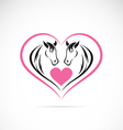 Horse and Heart vector image vector image