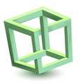 Impossible cube vector image