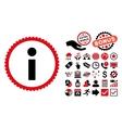 Info Flat Icon with Bonus vector image vector image