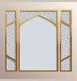 Islamic greeting card template vector image