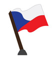 isolated flag of czech republic vector image