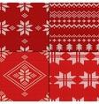 Knitting Pattern set vector image vector image
