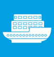 large passenger ship icon white vector image vector image