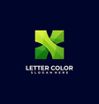 logo abstract letter gradient colorful style vector image