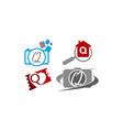 logotype q modern template set vector image vector image