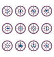 Marine symbols set vector image