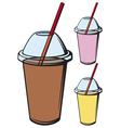 milk shake vector image