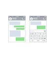 mobile ui kit messenger chat app design vector image