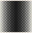 monochrome geometric halftone seamless pattern vector image vector image