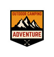 mountain camp emblem template design element vector image vector image