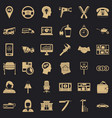 office work icons set simple style vector image vector image