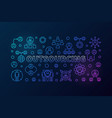 outsourcing horizontal colored vector image