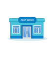 post office building outdoor interior of house vector image vector image